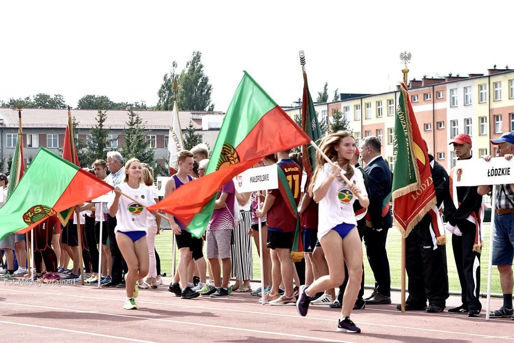 Julia z ola z flagami