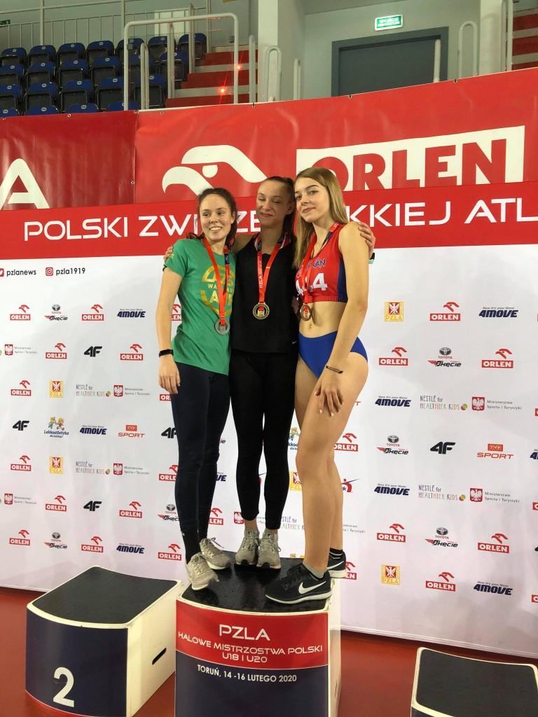 Weronika na podium