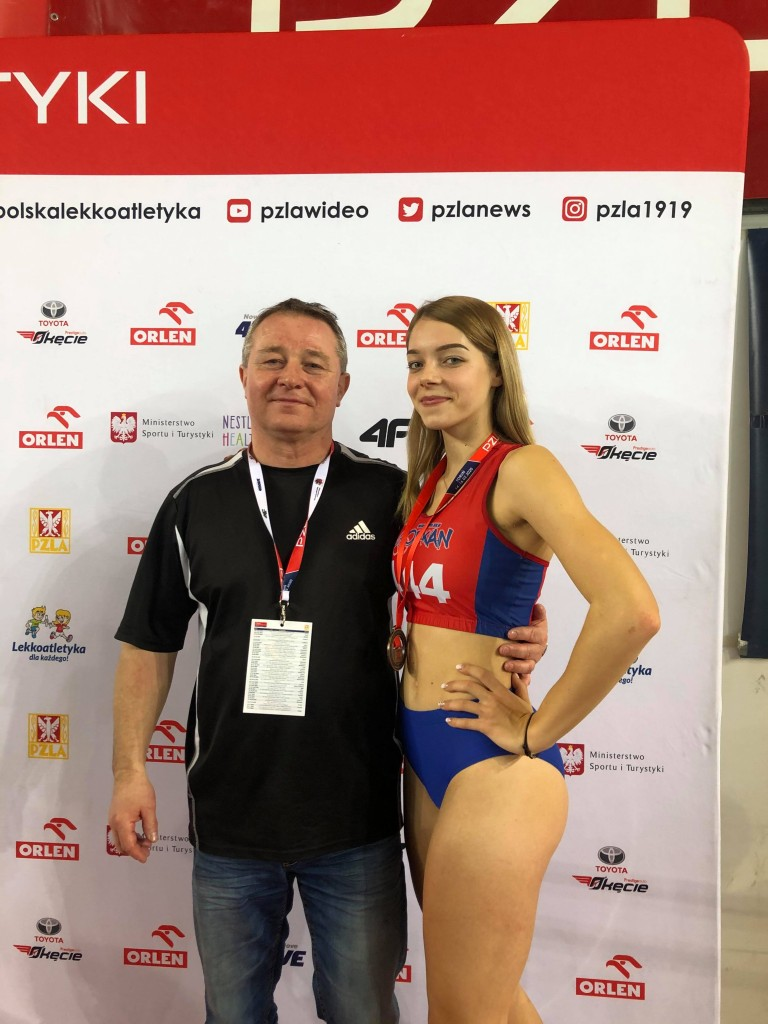Weronika z trenerem